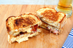 beer grilled cheese