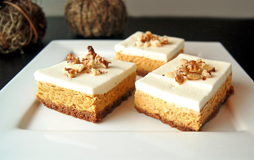 Pumpkin Cheesecake Bars | Culinary Cool www.culinary-cool.com