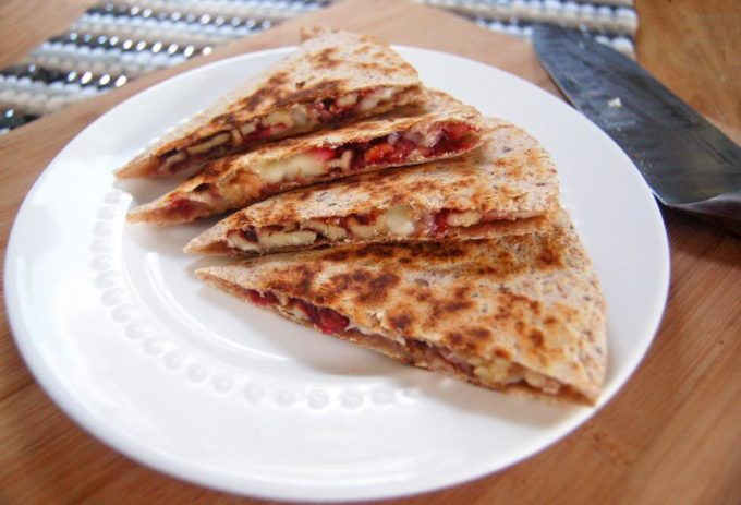 Brie and Walnut Quesadilla   Culinary Cool