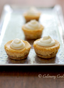 Mini Pumpkin Cheesecakes with Almond Crust