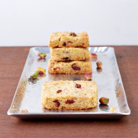 Pistachio, Cranberry and Cardamom Shortbread | Culinary Cool
