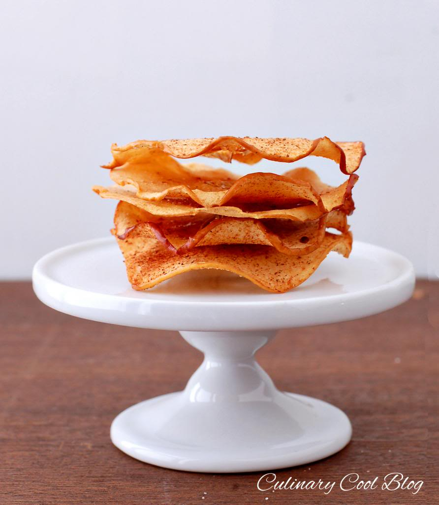 Baked Cinnamon Apple Chips| Culinary Cool