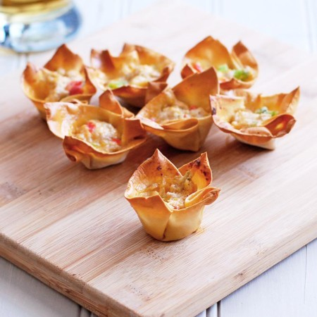 Cheesy Pork Wonton Cups   Culinary Cool