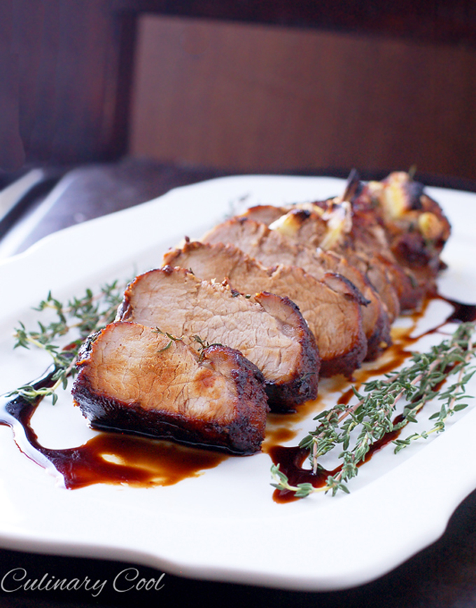 Balsamic Glazed Tenderloin Via Culinary Cool