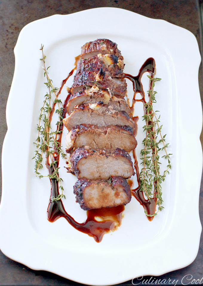 Balsamic Glazed Tenderloin via Culinary Cool