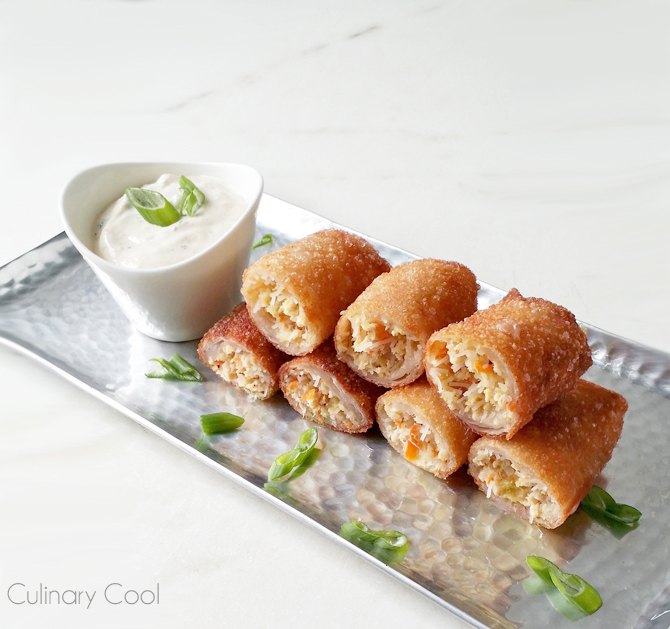 Chicken and Feta Spring Rolls | Culinary Cool