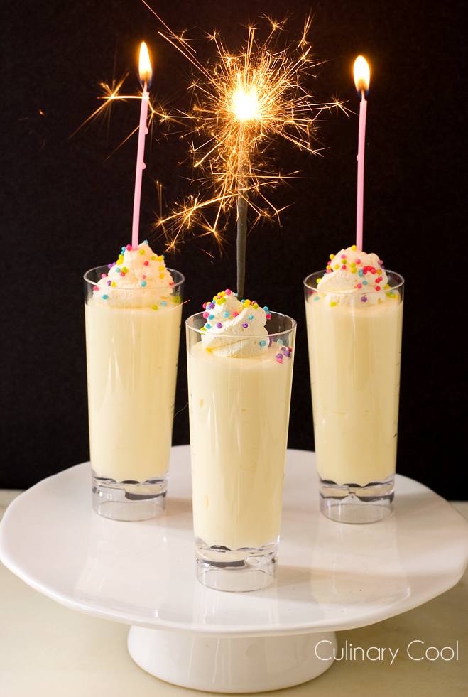 Birthday Cake Pudding Shots | Culinary Cool