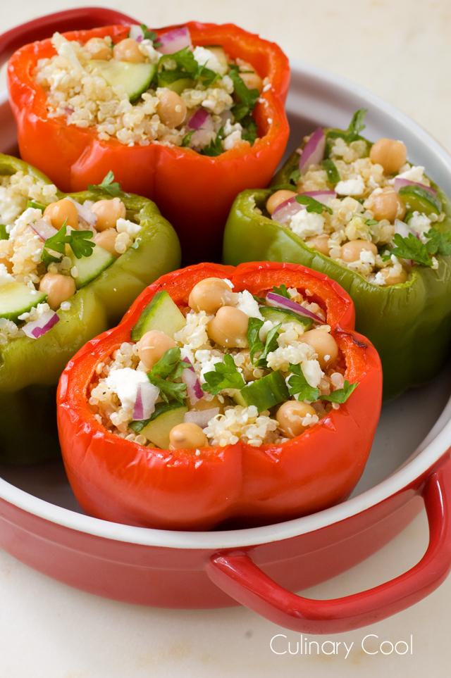 Greek Quinoa Stuffed Peppers | Culinary Cool