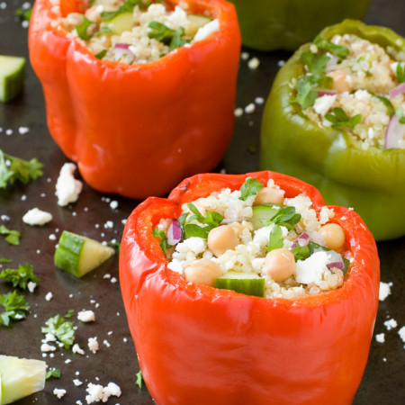 Greek Quinoa Stuffed Peppers | Culinary Cool