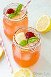 Sparkling Strawberry Basil Lemonade | Culinary Cool