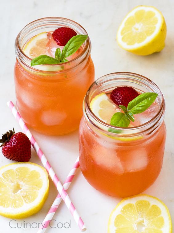 Strawberry Basil Lemonade | Culinary Cool