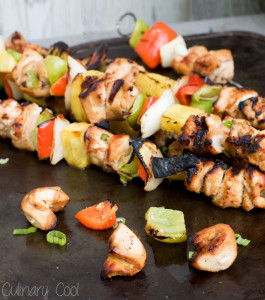 Chicken Kebabs with Spicy Rum Marinade