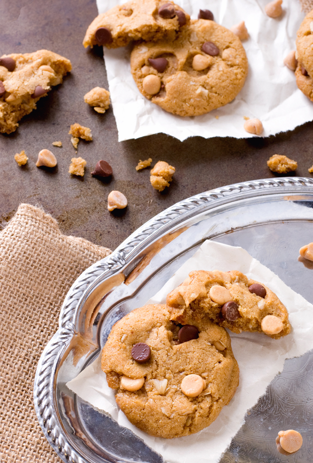 Flourless Peanut Butter Chocolate Chip Cookies | Culinary Cool