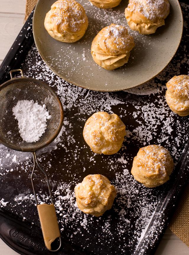 Pumpkin Pie Cream Puffs | Culinary Cool