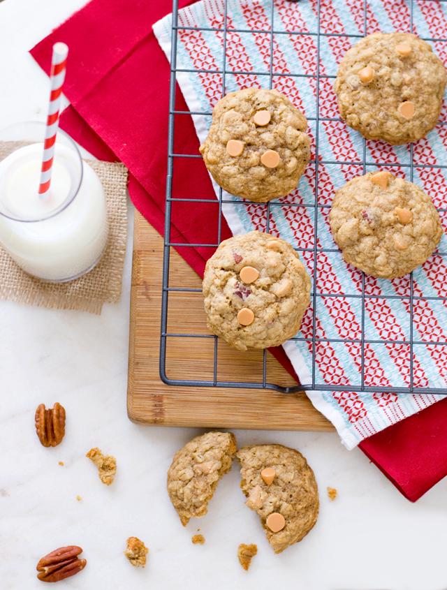 Bourbon Butterscotch Oatmeal Cookies | Culinary Cool