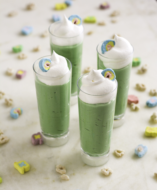 Lucky Charms Pudding Shots | Culinary Cool