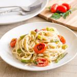 Creamy Pesto Pasta with Asparagus