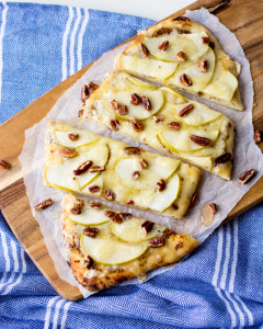 Apple, Dijon and Havarti Flatbread