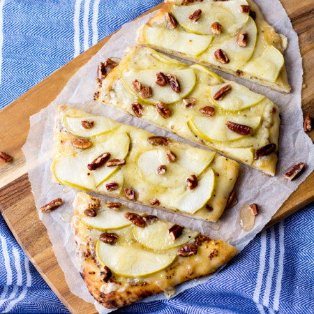 Apple, Dijon and Havarti Flatbread