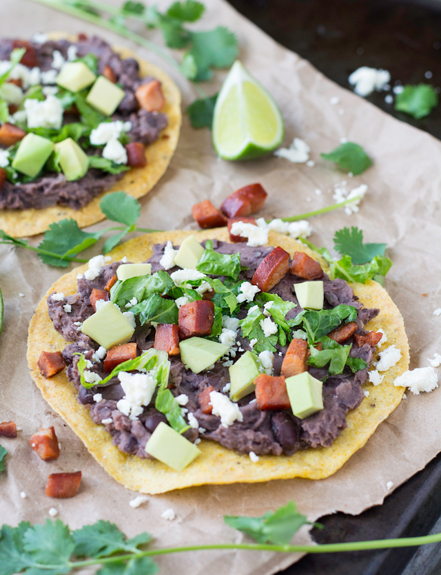 Black Bean and Chorizo Tostada | Culinary Cool