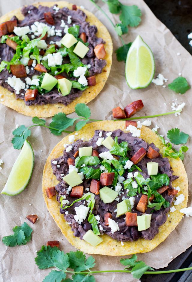 Black Bean Chorizo Tostada | Culinary Cool