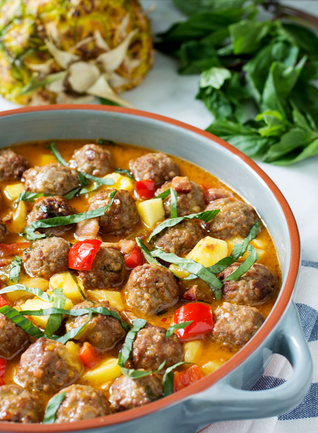 Thai Coconut Curry Meatballs | Culinary Cool