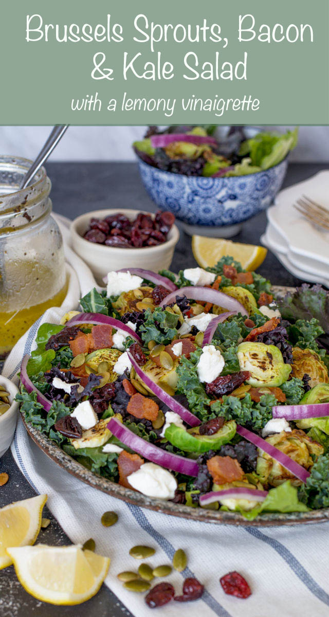Brussels Sprouts, Bacon and Kale Salad | Culinary Cool www.culinary-cool.com