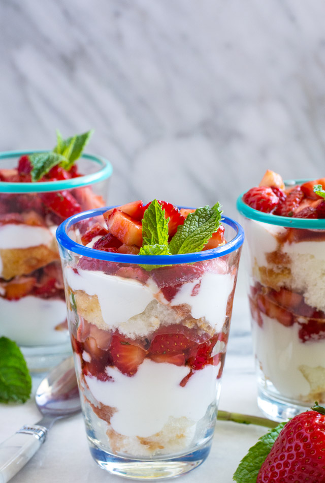 Strawberry and Whipped Goat Cheese Trifle | Culinary Cool www.culinary-cool.com