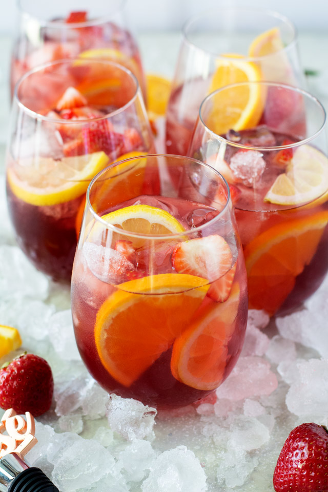 Strawberry Rosé Sangria | Culinary Cool www.culinary-cool.com