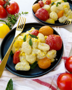 Sweet Corn and Roasted Tomato Gnocchi