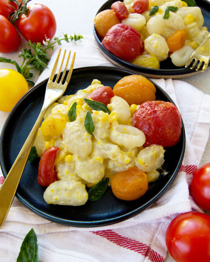 Sweet Corn and Roasted Tomato Gnocchi | Culinary Cool www.culinary-cool.com
