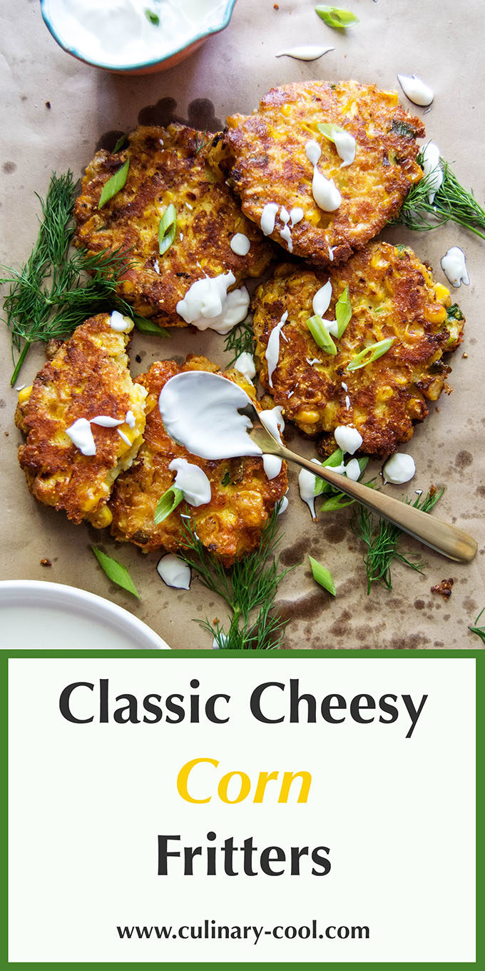 Cheesy Corn Fritters | Culinary Cool www.culinary-cool.com