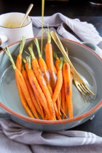 Maple Curry Glazed Carrots