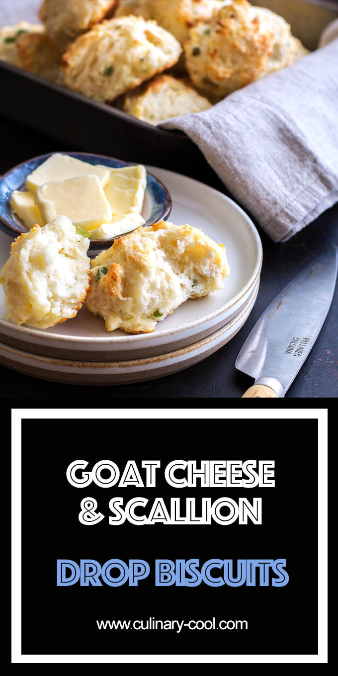 Goat Cheese and Scallion Drop Biscuits | Culinary Cool