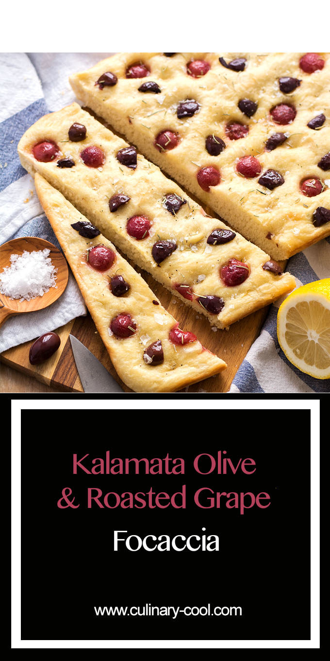Grape and Olive Focaccia | Culinary Cool www.culinary-cool.com