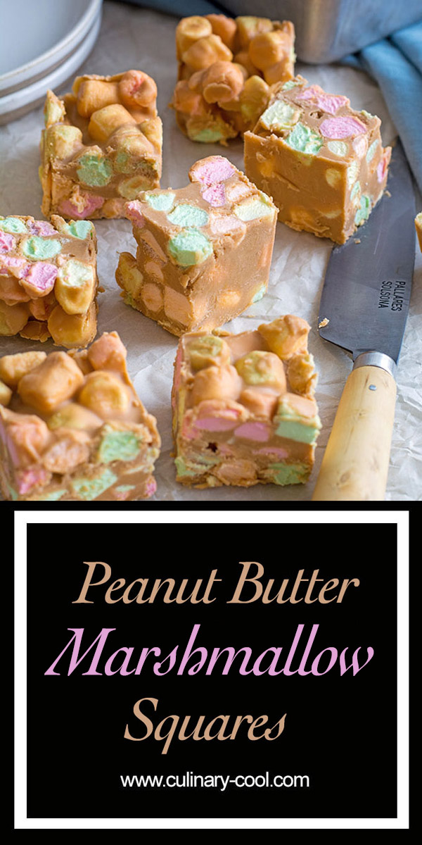 Peanut Butter Marshmallow Squares | Culinary Cool www.culinary-cool.com