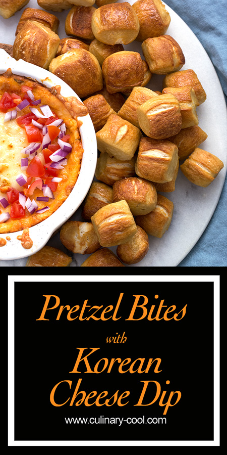 Pretzel Bites with Korean Cheese Dip | Culinary Cool | www.culinary-cool.com