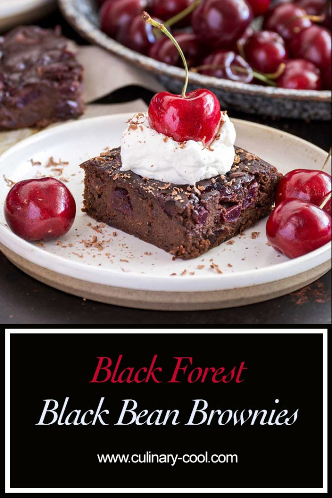 Black Forest Black Bean Brownies   Culinary Cool www.culinary-cool.com