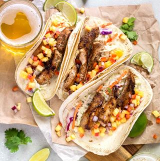 Caribbean Spiced Chicken Tacos with Pineapple Salsa | Culinary Cool www.culinary-cool.com