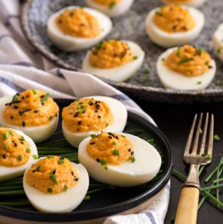 Kimchi Devilled Eggs | Culinary Cool www.culinary-cool.com