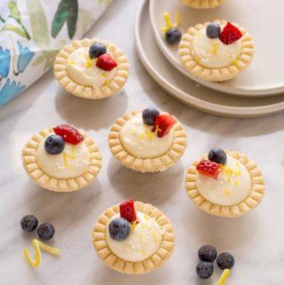 Nana's Lemon Cream Cheese Tarts | Culinary Cool