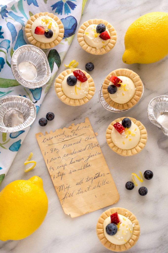 Nana's Lemon Cream Cheese Tarts | Culinary Cool