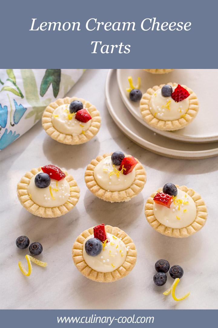 Nana's Lemon Cream Cheese Tarts | Culinary Cool www.culinary-cool.com