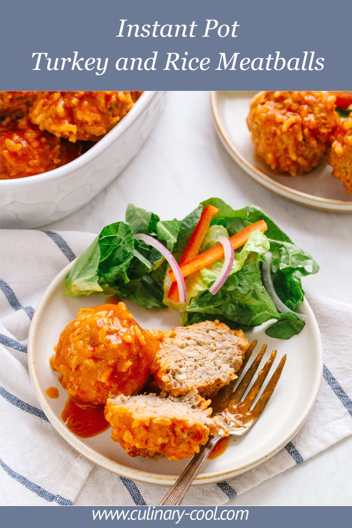 Instant Pot Turkey and Rice Meatballs | Culinary Cool www.culinary-cool.com #thinkturkey