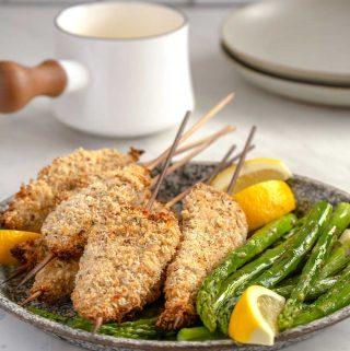 Turkey Spiedini with Lemon Sauce and Asparagus | Culinary Cool