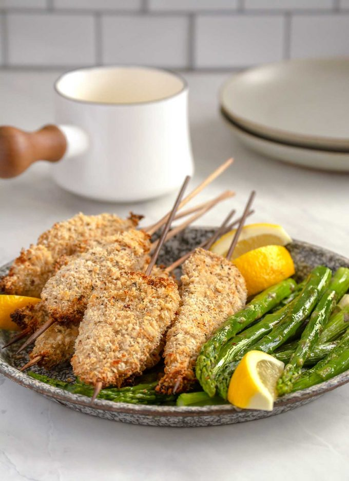 Turkey Spiedini with Lemon Sauce and Asparagus | Culinary Cool