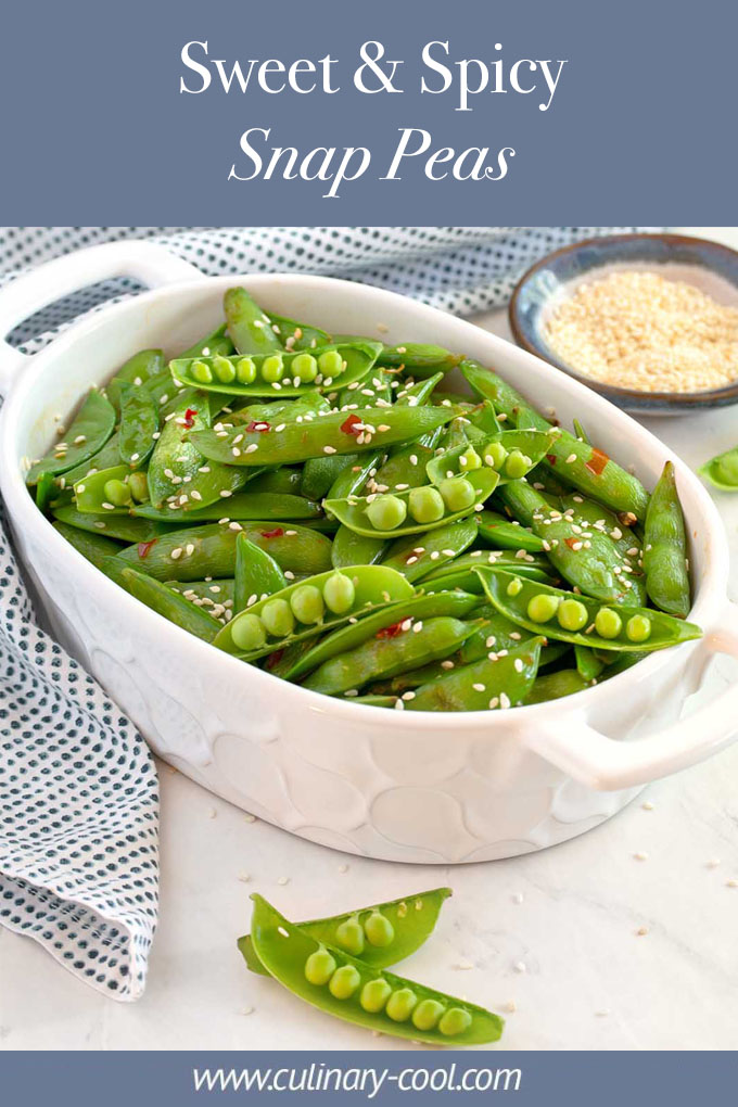 Sweet & Spicy Snap Peas | Culinary Cool