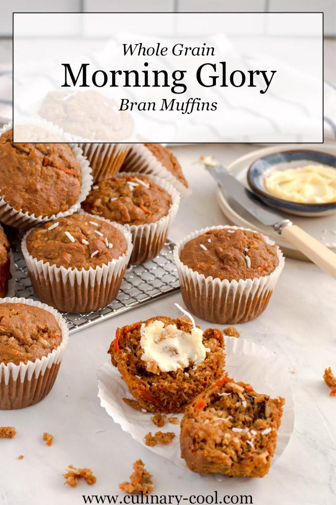 Whole Grain Morning Glory Bran Muffins
