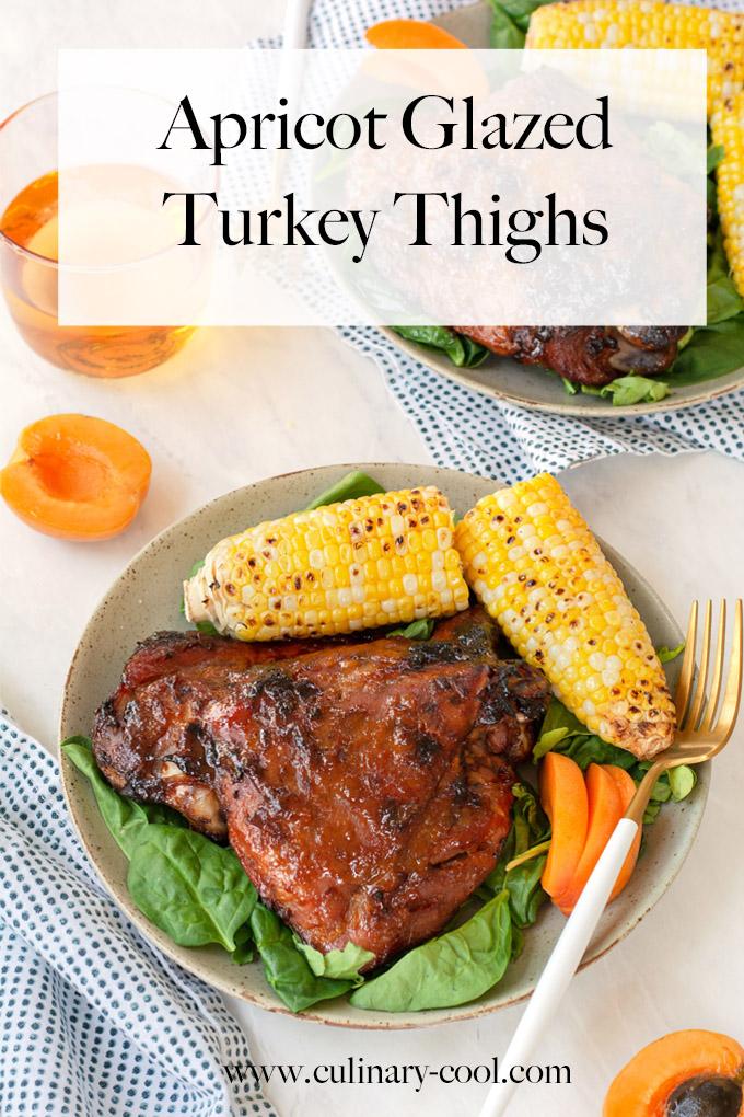 Apricot Glazed Turkey Thighs #ThinkTurkey